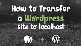 How to transfer a live Wordpress website to your localhost manually (no plugins)