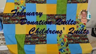 February Donation Quilts - Childrens' Quilts