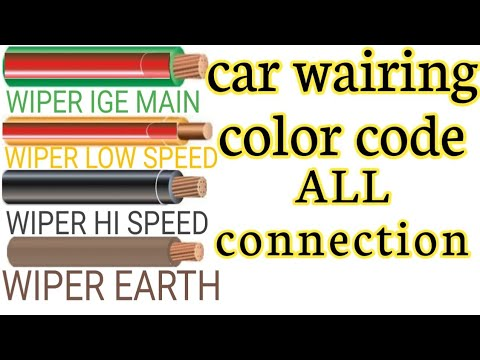 Car Wairing Color Code.auto Mobile Wairing Color Code. HORON,headlight,wiper, Parking Light, Etc