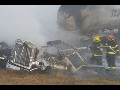 Crash Involving Anhydrous Ammonia Tanker Near Minot, ND