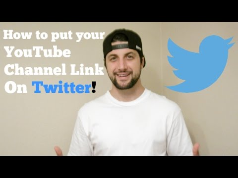 How to put your YouTube Channel Link on Twitter!