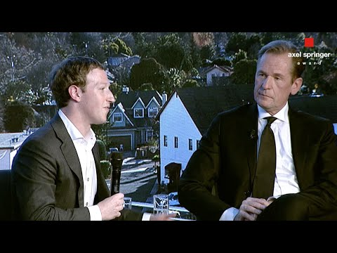 Axel Springer Award: Mathias Döpfner's interviews Mark Zuckerberg