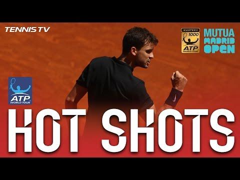 Dimitrov Delicate Half Volley Madrid 2017 Hot Shot