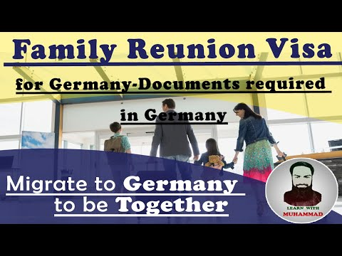 Family Reunion Visa for Germany-Documents required in Germany