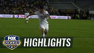 James Rodriguez makes it 2-0 for Colombia vs. Paraguay | 2016 Copa America Highlights