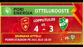 Pori Energia ottelukooste: FC Jazz - GrIFK 18.5.2019