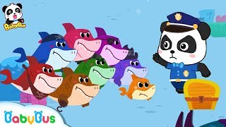 Baby Shark Vs Baby Panda Policeman | Number Song,Learn Colors | Kids Safety Tips | BabyBus Song
