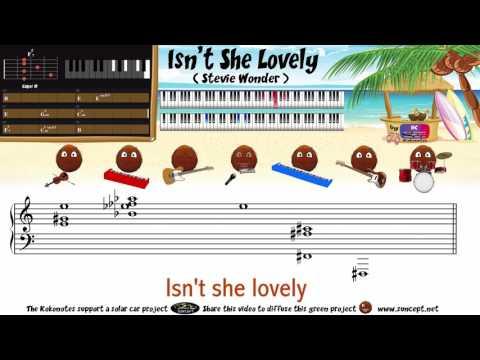 How to play : Isn't she lovely (Stevie Wonder) - Tutorial / Karaoke / Chords / Score / Cover