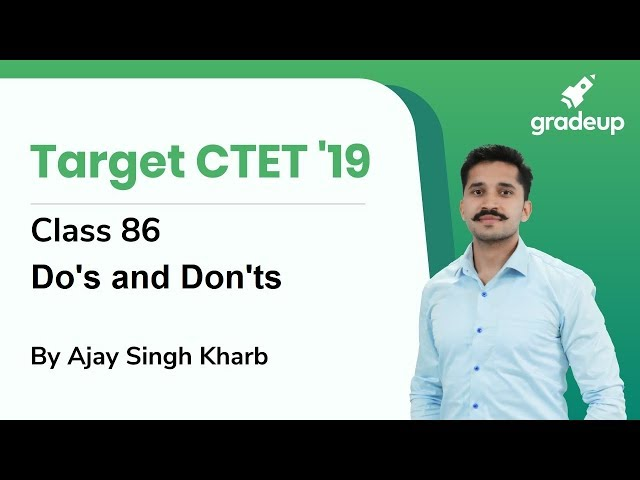 CDP Revision Class for CTET 2019 By Ajay Singh Kharb | Class 86