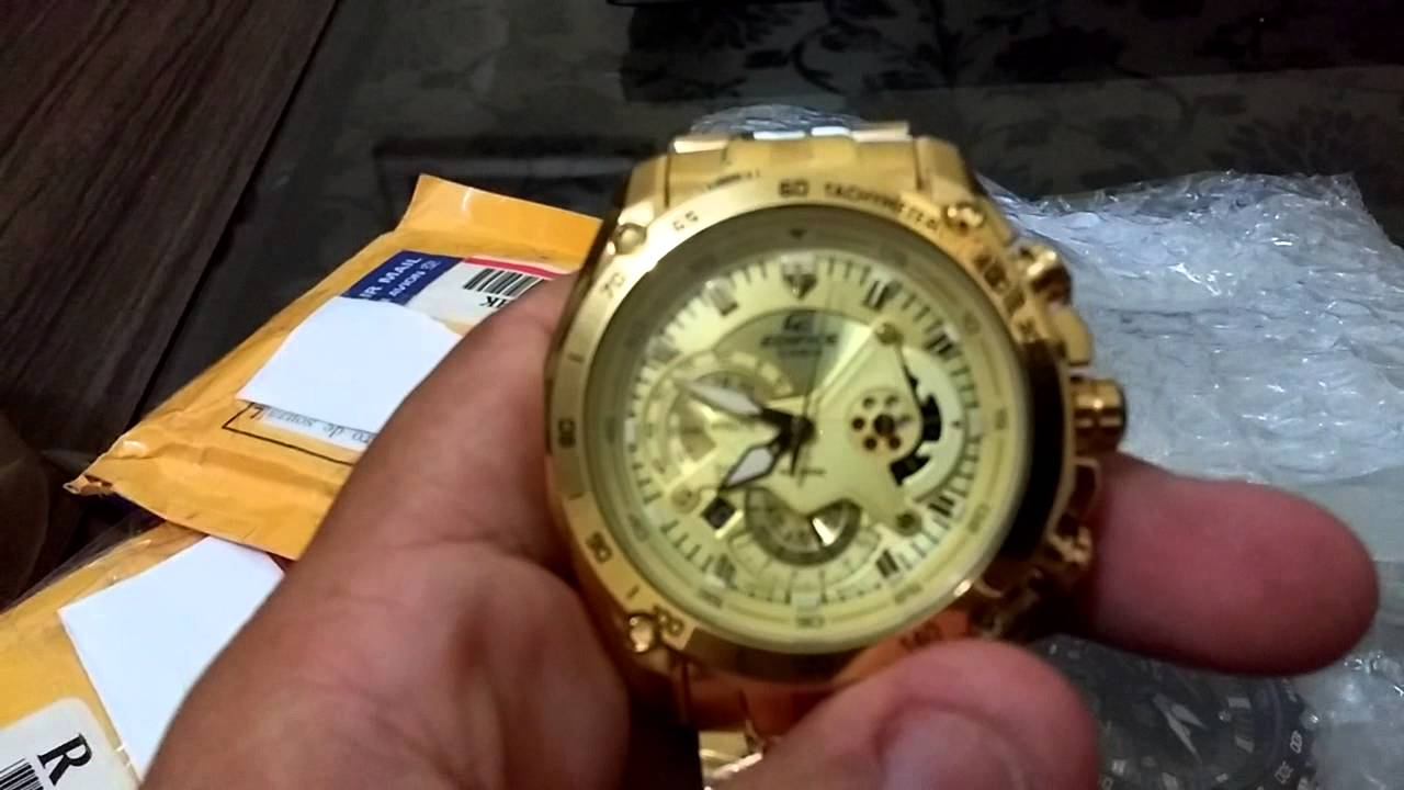 63105d49b75 Relógio Casio edifice EF 550 red Bull importado - YouTube