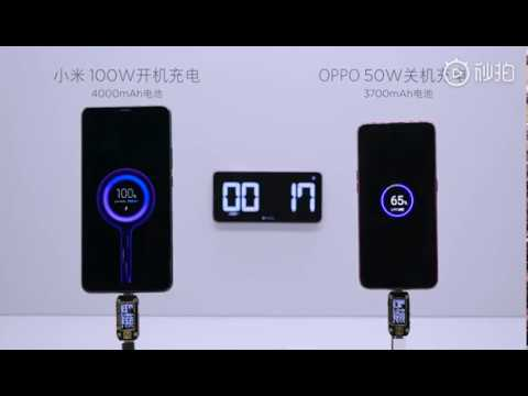 Xiaomi's 100W Super Charge Turbo fast charging technology demo