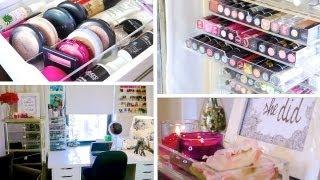 Desk & Makeup Tour! ♥ (+ Organization Ideas)
