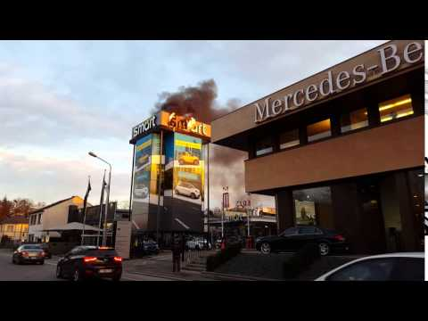 Smart en feu, rue de Bouillon [HD]