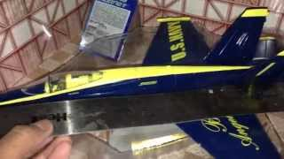 F/A -18 Hornet US Navy Blue Angels Diecast Metal Toy Fighter Plane