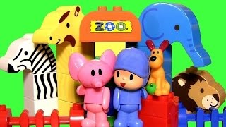MegaBloks Pocoyo at the Zoo with Elly the Elephant - Parque Zoológico Juguete de Bloques
