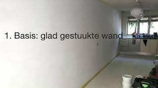 Betonlook muur maken - hoe doe je dat met beton ciré van Bruizt