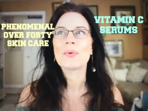 Phenomenal Over 40 Skin Care Anti-Aging Vitamin C Serum Comparison SkinCeuticals Timeless Derma e