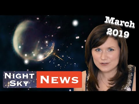 Night Sky News March '19 | Speeding Pulsar Discovery, Water on Near-Earth Asteroids & Space X Dragon