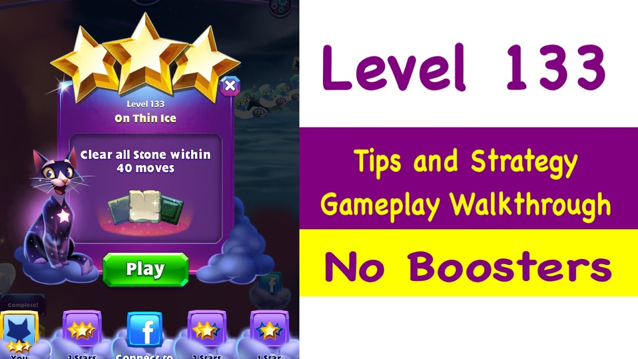 Bejeweled Stars Level 133 Tips and Strategy Gameplay Walkthrough No Boosters