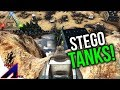 Raiding with Stego Tanks for the first time!   VsPVP: This is ARK!   ARK: Survival Evolved   S4:EP9