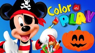 Mickey Mouse Clubhouse & Minnie Mouse Halloween Color Play Decorate Pumpkins Disney Junior App
