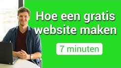 Hoe een gratis website maken in 7 minuten