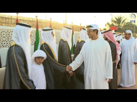 منصور بن زايد يشهد العرس الجماعي الأول لأبناء منطقة المشرف