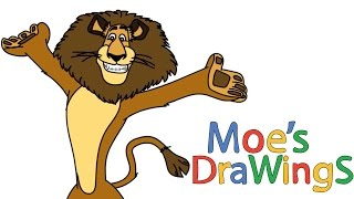 Madagascar Alex Dreamworks Animation How to draw and coloring fun new Hd video for kids