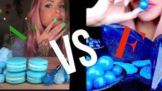 Blue Foods | Rating Asmr! ♥︎ Oof yt