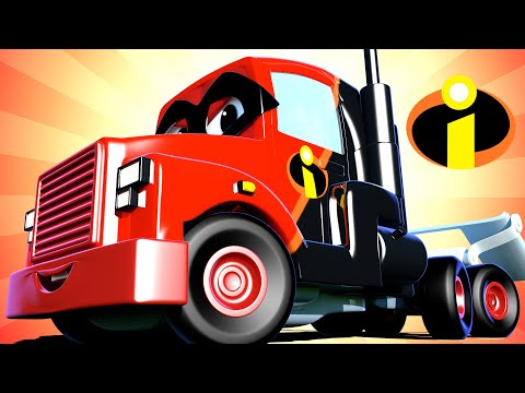 Special the incredibles - The incredible truck  - Carl the Super Truck - Car City ! Trucks Cartoons