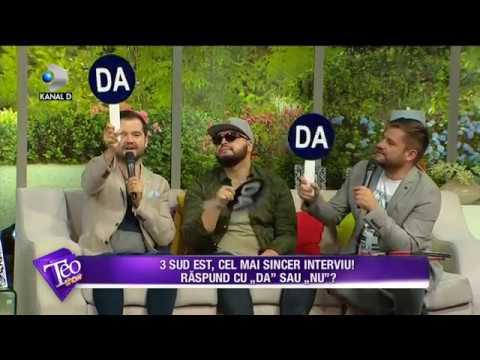 """Teo Show (04.07.2017) - 3 SUD EST, cel mai sincer interviu! Au raspuns cu """"DA"""" sau """"NU""""!"""