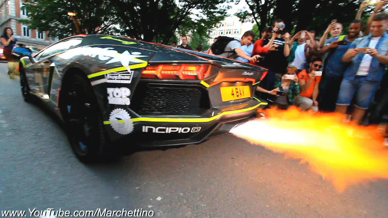Lamborghini Aventador Epic Flamethrower Exhaust Youtube