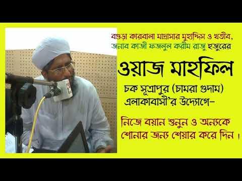 কাজী ফজলুল করীম রাজু হুজুরের বিশেষ ওয়াজ মাহফিল-চক সূত্রাপুর (চামরা গুদাম)বগুড়া - এলাকাবাসী'র উদ্যোগে thumbnail