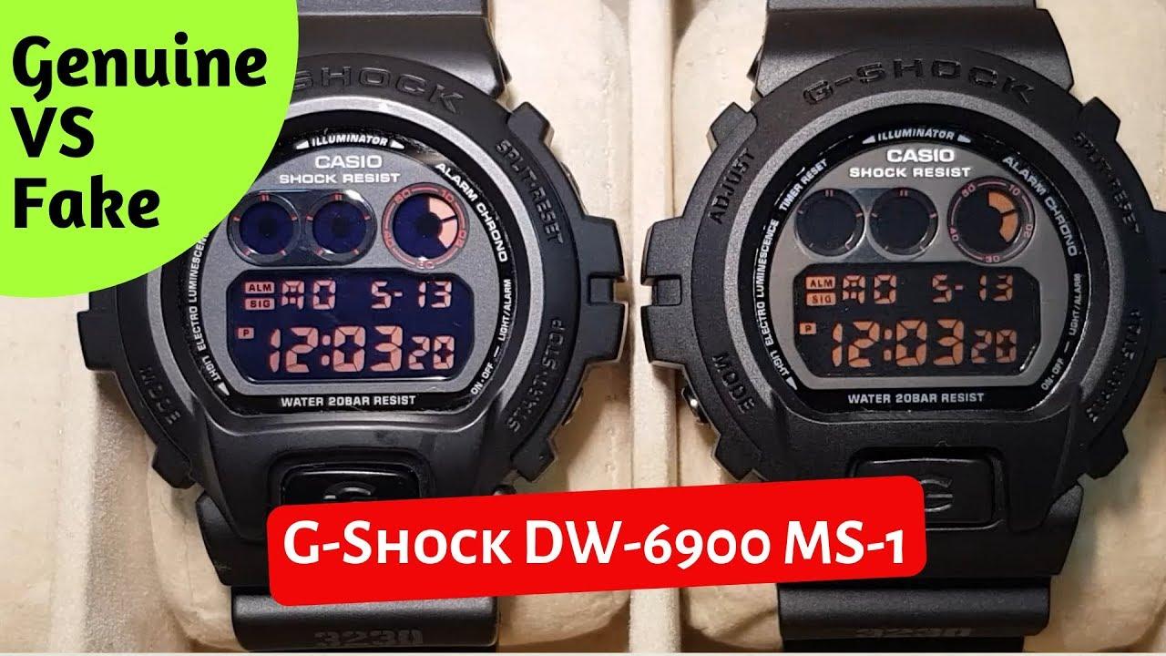 G Shock Dw 6900 Ms 1 Genuine Vs Fake Comparison 2019 Youtube