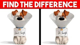 Bet You Can't Find The Difference | Secret Life of Pets 2 Movie Puzzles