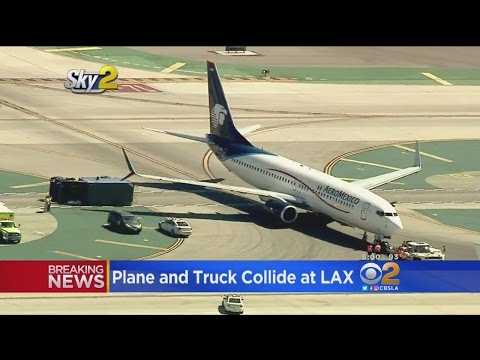 6 Hurt When Jet, Utility Truck Collide At LAX