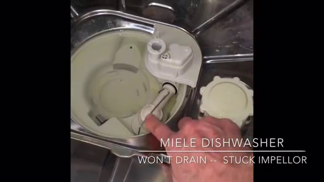 Miele Dishwasher -- Won't Drain -- 5 Minute Fix - YouTube