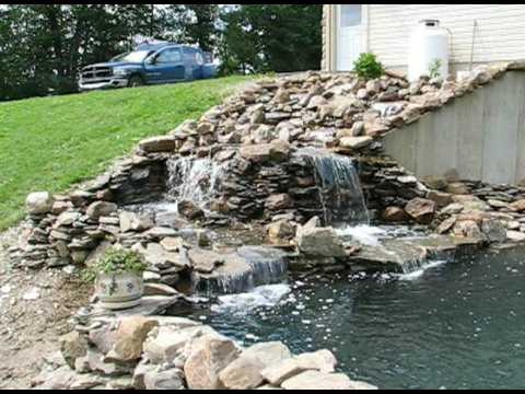Completed 10 000 gallon pond youtube for Koi pond gallons
