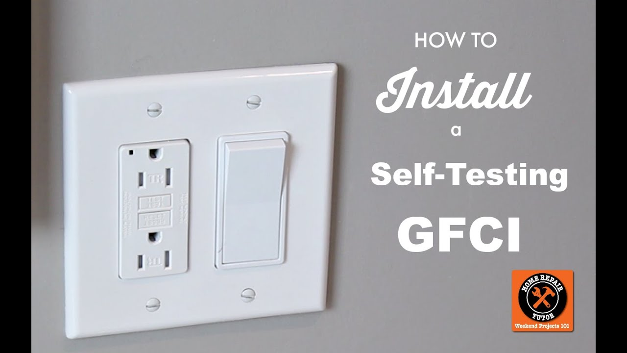 How To Install A Gfci Outlet Like Pro By Home Repair Tutor Wiring Two Switches One Light Besides Ceiling Fan Diagram Youtube