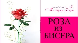Мастер класс Роза из бисера / Beaded rose handmade