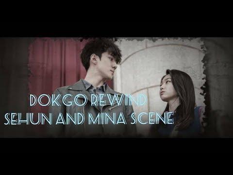 EXO SEHUN AND GUGUDAN MINA Dokgo Rewind scene