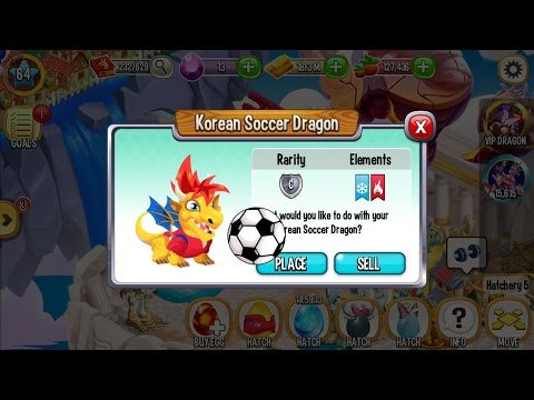 Dragon City Level 64 Gameplay (Got Korean Soccer Dragon From Ancient Breeding)