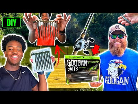 DIY Stick-bait VS Googan Baits Lunker Log (Fishing Challenge)