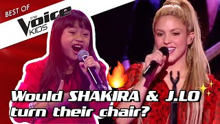 TOP 10 | A Super Bowl special: Shakira & Jennifer Lopez in The Voice Kids 🔥