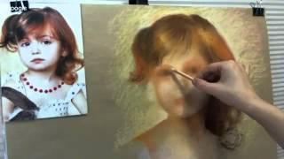 Как нарисовать портрет пастелью. Флешмоб