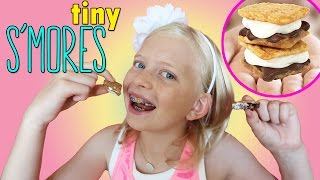 MAKING MINI S'MORES!!! FUN & EASY Yummy Nummies S'mores Maker Review