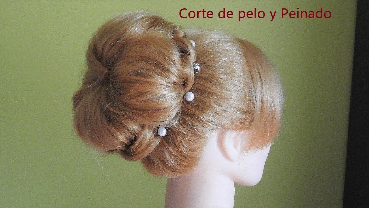 Recogido Alto Elegante Para Niña Peinado Fácil Para Fiestas Moño Para Boda Peluquería Fácil