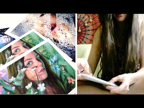 Artist Life | Packaging Print Orders, Errands, Filming, etc | Lena's Art Diary