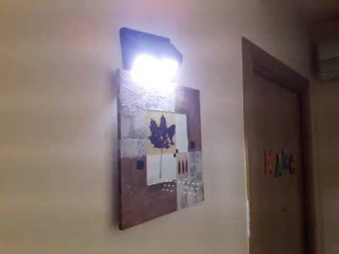 lampara solar led impermeable con sensor de movimento mpow mah foco solar para jardn casa c