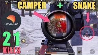 Camper & Snake Vs Me | Solo Vs Squad | PUBG Mobile